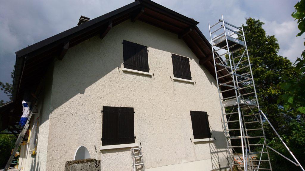 Mise en peinture façade