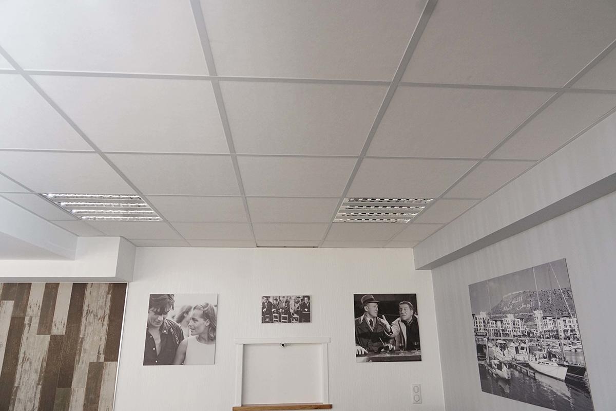 peinture, cloison, faux plafond