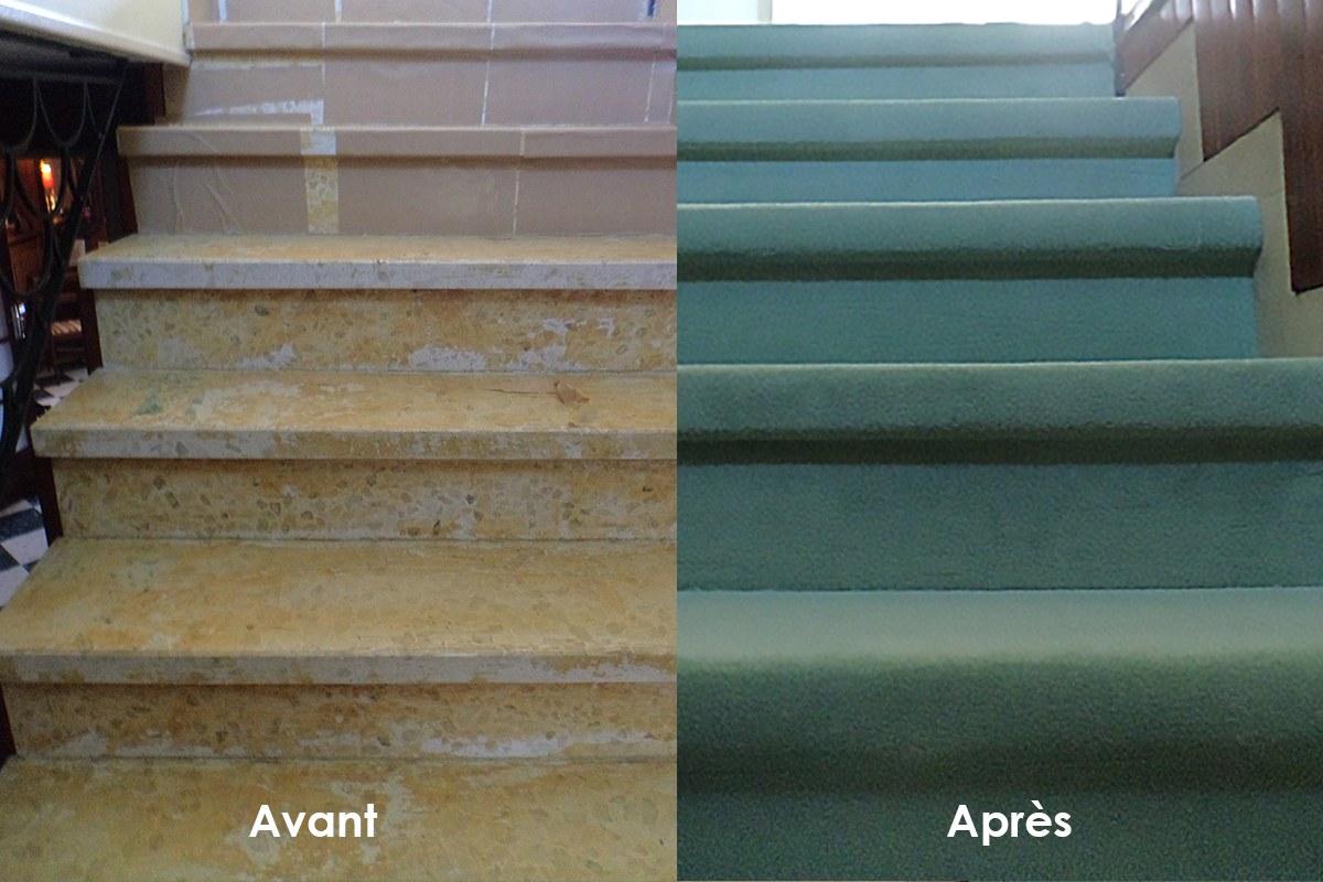revêtement escalier pierre